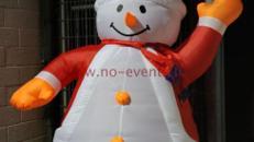 Schneemann mit Gebläse Groß / Dekoration / Weihnachten / Weihnachtsdekoration / Schnee / Winter