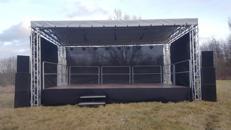 8x6m Open Air Bühne, Giebeldachbühne, Showbühne, Eventbühne, Bühnendach