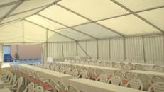 Firmenfeier, Hochzeit, Geburtstag, Jubiläum - mobile Location + Ausstattung für Ihr Event 201 - 300 Personen gehoben