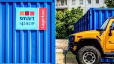 Witterungsbeständige Außencontainer mit Revierdienst vor Ort in Mannheim