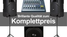 Professionelle Komplette PA-Anlage / Musikanlage / Beschallungsanlage Coda Audio/RCF aktiv 1800 Watt inklusive Mischpult