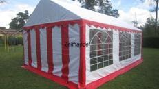Partyzelt 4m x 6m Rot Weiß