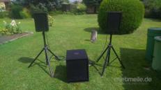 Aktive PA DJ Anlage