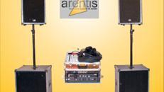 Musikanlage - Soundsystem - DJ-Anlage - Lautsprecher Disco Aktivsystem mit 4 x 800 Watt für ca. 280 Personen