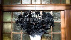 Rosenensemble w/s (weiße Vasen, schwarze