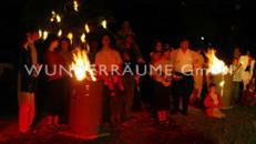 100  Feuer- / Brandtonnen,  aus  Metall  WUNDERRÄUME GmbH vermietet: Dekoration / Kulisse für Event, Messe, Veranstaltung, Incentive, Mitarbeiterfest, Firmenjubiläum