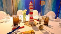 maritime Tischdekoration 2 - WUNDERRÄUME GmbH vermietet: Dekoration/Kulisse für Event, Messe, Veranstaltung, Incentive, Mitarbeiterfest, Firmenjubiläum