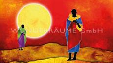 """Leinwanddruck """"Sonne Afrika"""""""