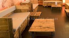 Tisch Industrial / Vintage Style - WUNDERRÄUME GmbH vermietet: Dekoration/Kulisse für Event, Messe, Veranstaltung, Incentive, Mitarbeiterfest, Firmenjubiläum
