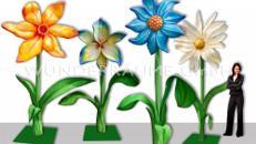 4 Riesenblumen bis 4m / SET 2 - WUNDERRÄUME GmbH vermietet: Dekoration/Kulisse für Event, Messe, Veranstaltung, Incentive, Mitarbeiterfest, Firmenjubiläum