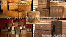 nostalgische Kisten & Truhen - WUNDERRÄUME GmbH vermietet: Dekoration/Kulisse für Event, Messe, Veranstaltung, Incentive, Mitarbeiterfest, Firmenjubiläum
