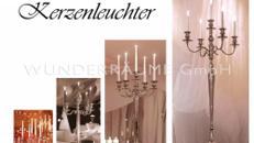 Kerzenleuchter; 5-armig, verchromt; H:1m WUNDERRÄUME GmbH vermietet: Dekoration / Kulisse für Event, Messe, Veranstaltung, Incentive, Mitarbeiterfest, Firmenjubiläum