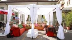Loungepavillon, outdoor - WUNDERRÄUME GmbH vermietet: Dekoration/Kulisse für Event, Messe, Veranstaltung, Incentive, Mitarbeiterfest, Firmenjubiläum
