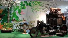 Kulisse Motorrad-Oldtimer-Picknick - WUNDERRÄUME GmbH vermietet: Dekoration/Kulisse für Event, Messe, Veranstaltung, Incentive, Mitarbeiterfest, Firmenjubiläum
