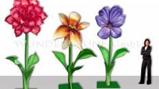 3 Riesenblumen bis 4m / SET 1 - WUNDERRÄUME GmbH vermietet: Dekoration/Kulisse für Event, Messe, Veranstaltung, Incentive, Mitarbeiterfest, Firmenjubiläum