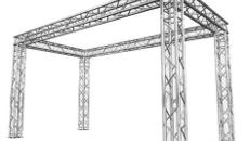Traversensystem, Messestand, Viereck 6x6m, 3,5 m hoch, Prolyte H30V oder Global Truss F34 System