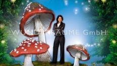 Pilze groß, Pilzset Fliegenpilze (6 Pilze) - WUNDERRÄUME GmbH vermietet: Dekoration/Kulisse für Event, Messe, Veranstaltung, Incentive, Mitarbeiterfest, Firmenjubiläum