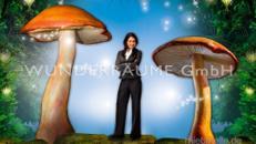 Pilze groß, Pilzset Riesenröhrlinge (3 Pilze) - WUNDERRÄUME GmbH vermietet: Dekoration/Kulisse für Event, Messe, Veranstaltung, Incentive, Mitarbeiterfest, Firmenjubiläum