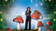 Pilze groß, Pilzset Rotkappe (5 Pilze) - WUNDERRÄUME GmbH vermietet: Dekoration/Kulisse für Event, Messe, Veranstaltung, Incentive, Mitarbeiterfest, Firmenjubiläum
