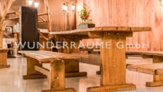Eichen-Sitzbank - WUNDERRÄUME GmbH vermietet: Dekoration/Kulisse für Event, Messe, Veranstaltung, Incentive, Mitarbeiterfest, Firmenjubiläum
