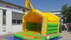 Giraffen Hüpfburg mit Dach mieten