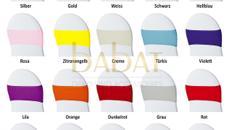 Hochzeitsdekoration VERLEIH Bänder Stretchbänder für Hochzeit alle Farben