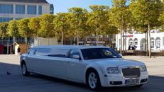 Party Limo Chrysler Weiß Limousine Stretchlimousine Hochzeit Stretch limosine