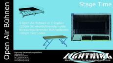 Open Air Bühnendach mit Boden 4 Größen!