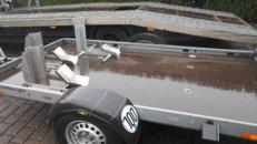 Motorradanhänger für drei grosse Motorräder