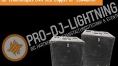 """DVA S20 Doppel 18"""" Subwoofer Bass PA Anlage von dBTechnologies, Beschallungsanlage, DJ Anlage, Musikanlage, Partyanlage, Tonanlage, Subwoofer, Lautsprecher, Soundsystem"""