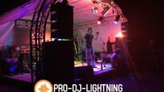Bühnentechnik - Event/Showbühne - Podesterie - Bühnenbau - Bühnendach - Rundbogen Bühne - Open Air Bühne - Traversen - Bühne für Events aller Art mit Ton- u Lichttechnik mieten