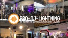 Messestand in div. Größen, Messetechnik, Messebau, Traversenmessestand, Mietmessestand mit Beleuchtung mieten