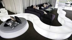 LED Sitzbank / Loungemöbel Set / LED Lounge Sitzgruppe / Loungebank / LED Snake / Akku LED