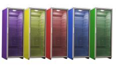 Kühlschrank 350l, 175cm, mit Beleuchtung farbig