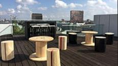 Sitzgruppe Holzmöbel Lounge Möbel