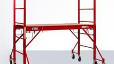 Zimmergerüst - Fahrgerüst - Baugerüst - Arbeitsgerüst - Rollgerüst Standhöhe bis 2,9 m = 4,9 m Arbeitshöhe
