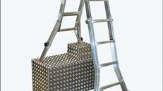 Teleskop Alu-Gelenkleiter bis 5,3 m Länge - Ideal für Treppen und schwer zugängliche Stellen!