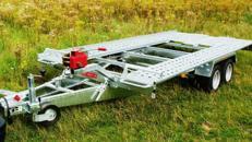 PKW Transporter kippbar  3000 kg gebremst / 100 km/h 4000 x 1950 mm