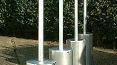 Paketangebot: 5  Terrassenheizstrahler 5 - 12 KW Heizstrahler, Pilz, Terrassenpilz, Terrassenheizer, Heizofen, Ofen