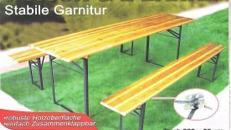 Paketangebot 5 Tische + 10 Baenke fuer professionelle Gartenpartys