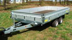 Offener Kastenanhänger 3,5 t - 4010 x 2030 x 345 - Nutzlast 2900 kg mit Rampen + Stützen, 200 Mietanhänger vorrätig im Mietpark Elsdorf