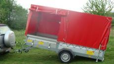 MEGALINER 750 kg ungebremst 3130 x 1280 x 1500 mm Plananhänger kippbar mit Auffahrrampe - FSK B ist ausreichend