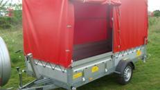 MEGALINER 750 kg ungebremst 3130 x 1280 x 1500 mm Plananhänger kippbar mit Auffahrrampe