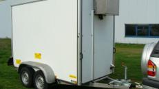 Kühlanhänger, Kühlwagen, Kühlkoffer, Kühlkofferanhänger 3000 x 1500 x 1900 - 2000 kg doppelachser - 1400 kg Nutzlast, bis minus - 2°C Kühlung