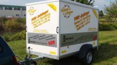 Kofferanhaenger  1300 kg gebremst - geschlossen - Ladeflaeche 2510 x 1300 x 1500 - Nutzlast ca. 1000 kg
