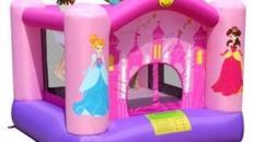 Hüpfburg - Prinzessin Rosa - Speziell für Kleinkinder geeignet Hüpfburgen Springburg Kinderattraktionen