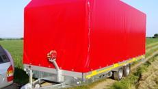 Geschlossener Plananhänger inkl. 2 Auffahrrampen - 2700 kg gebremst - Ladefläche 6100 x 2100 x 2400 - 30,74 m³ - Nutzlast ca. 1875 kg