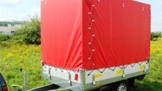 Geschlossener Plananhänger Hochlader - 1300 kg gebremst / 100 km/h - Ladefläche: 2510 x 1530 x 1800 - Nutzlast  ca. 1050 kg