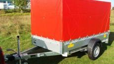 Geschlossener Plananhänger einachser 1300 kg gebremst / 100 km/h - 2510 x 1280 x 1300