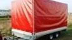Geschlossener Plananhänger - Hochlader 2500 kg gebremst / 100 km/h - In Langzeitmiete ab 150,-  / monatlich - Ladefläche 3700 x 2060 x 1900 - Nutzlast ca. 1900 kg